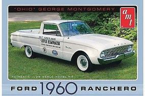 AMT 1960 FORD RANCHERO OHIO GEO Plastic Model Car Truck Vehicle Kit 1/25 Scale #822