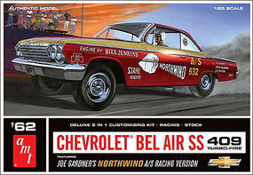 AMT 1962 Chevrolet Bel Air SS 409 Turbo-Fire 1/25 Scale Plastic Model Car Kit #865