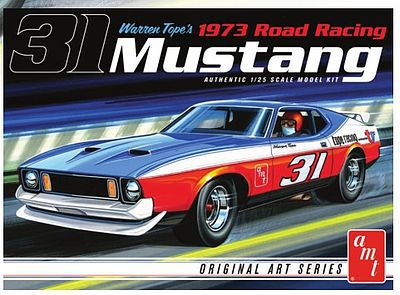 AMT/ERTL 1/25 1973 Ford Mustang Race Car (Warren Tope) -- Plastic Model Car Kit -- 1/25 Scale -- #896