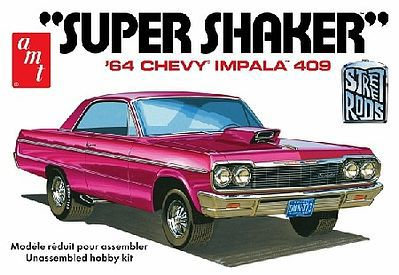 AMT/ERTL 1964 Chevy Impala 409 Super Shaker Car -- Plastic Model Car Truck Vehicle -- 1/25 Scale -- #917