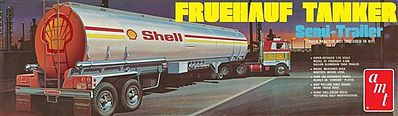 AMT/ERTL 1/25 Shell Tanker Trailer -- Plastic Model Trailer Kit -- 1/25 Scale -- #918