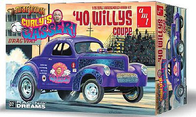 AMT/ERTL 1940 Willy Coupe Currly's Gasser Drag Car -- Plastic Model Car Kit -- 1/25 Scale -- #939
