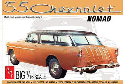 AMT/ERTL 1955 Chevy Nomad Wagon -- Plastic Model Car Kit -- 1/16 Scale -- #1005-06