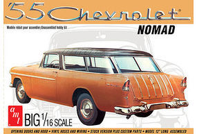 AMT 1955 Chevy Nomad Wagon Plastic Model Car Kit 1/16 Scale #1005-06
