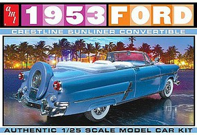 AMT 1953 Ford Convertible Plastic Model Car Kit 1/25 Scale #1026-12