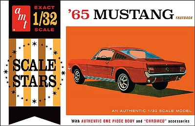 AMT/ERTL 1965 Ford Mustang Fastback -- Plastic Model Car Kit -- 1/32 Scale -- #1042-12