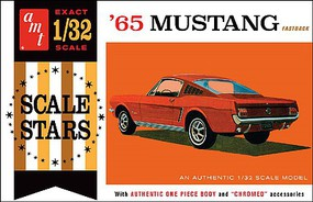 AMT 1965 Ford Mustang Fastback Plastic Model Car Kit 1/32 Scale #1042-12