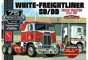 AMT White Freightliner 2-in-1 SC/DD Cabover Plastic Model Truck Kit 1/25 Scale #1046