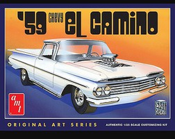 AMT 1959 Chevy El Camino Original Art Series Plastic Model Car Kit 1/25 Scale #1058