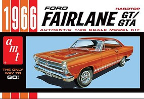 AMT 1966 Ford Fairlane GT Plastic Model Car Kit 1/25 Scale #1091-12