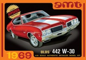 AMT 1969 Olds W-30 442 Plastic Model Car Kit 1/25 Scale #1105-12