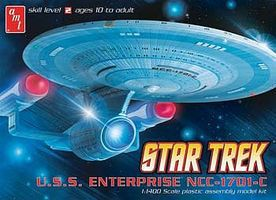 AMT Star Trek USS Enterprise NCC1701C Plastic Model Spaceship Kit 1/1400 Scale #721