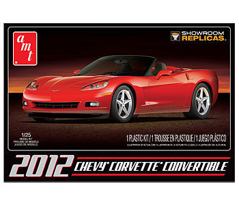 AMT/ERTL 2012 Chevy Corvette Convertible -- Plastic Model Car Kit -- 1/25 Scale -- #733