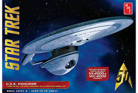 AMT USS Excelsior Plastic Model Spaceship Kit 1/1000 Scale #843-12
