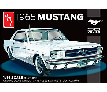 1965 Ford Mustang Plastic Model Car Kit 1 16 Scale 872 06 By Amt