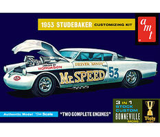 AMT 1953 Studebaker Starliner Mr. Speed Plastic Model Car Kit 1/25 Scale #877_12