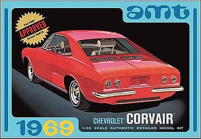 AMT/ERTL 1969 Chevy Corvair -- Plastic Model Car Kit -- 1/25 Scale -- #894-12