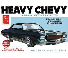 AMT 1970 Chevy Impala Heavy Chevy Original Art Plastic Model Car Kit 1/25 Scale #895