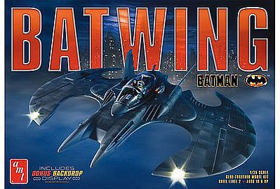 AMT/ERTL 1989 Batman Batwing -- Plastic Model Vehicle Kit -- 1/25 Scale -- #948-12