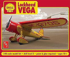 AMT Shell Oil Lockheed Vega Plastic Model Airplane 1/48 Scale #950-12