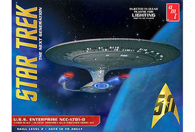 AMT Star Trek USS Enterprise 1701-D Clear Science Fiction Plastic Model 1/1400 Scale #955-06