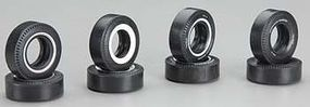 AMT M&H Drag Slick Tire Pack (8) Plastic Model Tire Set 1/25 Scale #pp001/24
