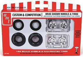AMT Gasser Wheels & Tires Pack Plastic Model Tire and Wheel Set 1/25 Scale #pp5
