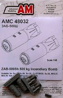 Advanced 1/48 ZAB500Sh 500kg Incendiary Bomb (2) for Soviet Aircraft (D)