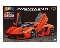 Aoshima Lamborghini Aventador LP700-4 Sports Car Plastic Model Car Kit 1/24 Scale #11386