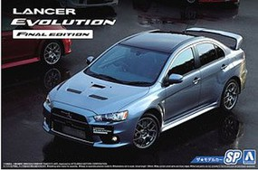 Aoshima 1/24 2015 Mitsubishi Lancer Evolution Final Edition 4-Door Car w/Spoiler