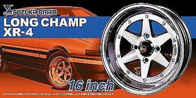 Aoshima 1/24 Suzuka Brain Longchamp XR4 16 Tire & Wheel Set (4)