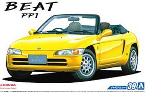 Aoshima 1/24 1991 Honda Beat PP1 2-Door Sports Car Convertible, Top Down