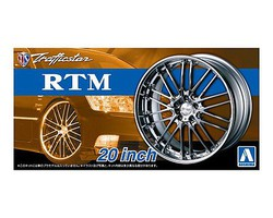 Aoshima 1/24 Traffiicstar RTM 20 Tire & Wheel Set (4)