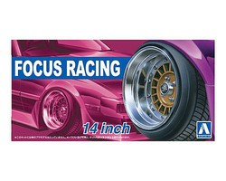 Aoshima 1/24 Focus Racing 14 Tire & Wheel Set (4)