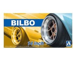 Aoshima 1/24 Bilbo 14 Tire & Wheel Set (4)