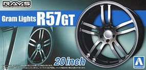 Aoshima 1/24 Gram Lights R57GT 20 Tire & Wheel Set (4)