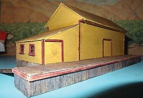 Alpine New Haven Rural Freight Station Laser-Cut Wood Kit HO Scale Model Railroad Building #5805