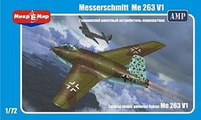 AMP Messerschmitt Me263V1 German Rocket-Pwd Fighter Plastic Model Airplane Kit 1/72 Scale #7201