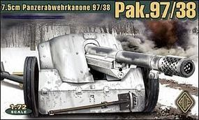 Ace German 7.5cm Pak 97/38 WWII Gun Plastic Model Artillery Kit 1/72 Scale #72223