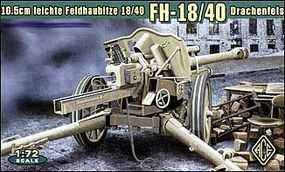 Ace German leFh18/40 10.5cm WWII Field Howitzer Plastic Model Artillery Kit 1/72 Scale #72226