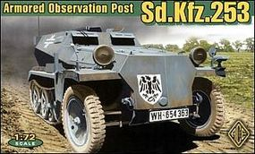 Ace German SdKfz 253 Armored Observation Post Plastic Model Halftrack Kit 1/72 Scale #72239