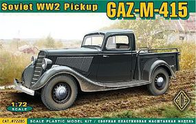 Ace GAZ-11-415 WWII Soviet Pickup Truck Plastic Model Military Truck Kit 1/72 Scale #72285