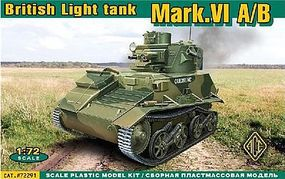 Ace British Mark VI A/B Light Tank Plastic Model Tank Kit 1/72 Scale #72291