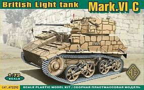 Ace British Mk VIc Light Tank Plastic Model Military Vehicle Kit 1/72 Scale #72292