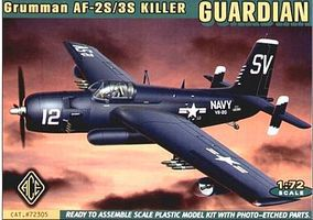 Ace AF2S/3S Grumman Guardian Bomber w/Photo-Etched Plastic Model Airplane Kit 1/72 #72305