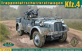 Ace WWII Kfz4 German AA Motor Vehicle Plastic Model Military Vehicle Kit 1/72 Scale #72512