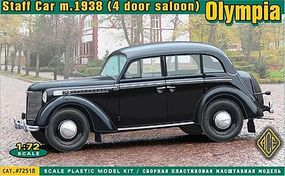 Ace Olympia Mod 1938 Saloon Staff Car Plastic Model Personnel Carrier Kit 1/72 Scale #72518