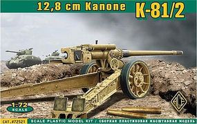 Ace German K81/2 12.8cm Kanone Heavy Gun Plastic Model Artillery Kit 1/72 Scale #72521