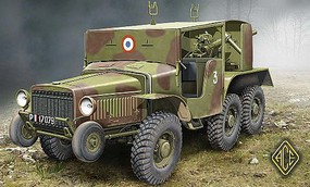 Ace W15T CC 6x6 French Tank Hunter Plastic Model Military Vehicle Kit 1/72 Scale #72537