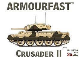 Armourfast Crusader II Tank (2) Plastic Model Tank Kit 1/72 Scale #99026